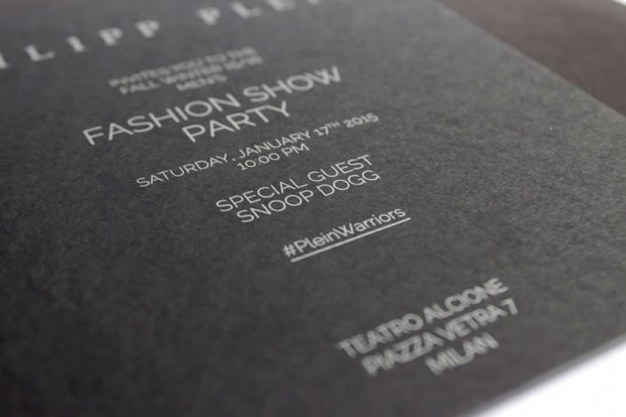 Einladung zur Fashio Show Party von Philipp Plein